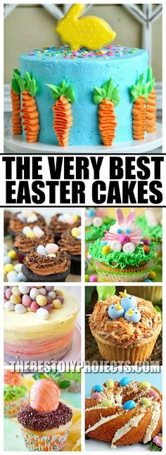 These Easter Cakes are about the cutest things that I have ever seen. You have to check these out and make them to celebrate the upcoming Easter holiday!
