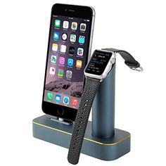 cool Binwo Premium 2 in 1 Aluminum Metal Displaying Apple Watch Stand Charging Docks Charger Cradle Holder Docking Station for iWatch iPhone 5S/6/6S/Plus iPad or other Smartphone/Cell Phone Check more at http://pixeldome.co.uk/shop/toys-and-games/toys/toy-types/fancy-dress/accessories/binwo-premium-2-in-1-aluminum-metal-displaying-apple-watch-stand-charging-docks-charger-cradle-holder-docking-station-for-iwatch-iphone-5s66splus-ipad-or-other-smartphonecell-phone/