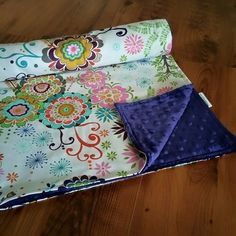 Minky Blanket Floral Baby Blanket Baby Blanket by WatchMyDive