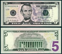 Five Dollar Bill Hidden Images Reveal Obama Martial Law 5 Dollar Bill, Dollar Money, 100 Dollar, Money Template, Bill Template, Federal Reserve Note, Money Notes, Coin Dealers, Coins Worth Money