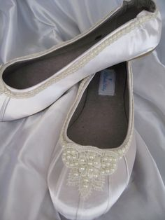 Wedding Shoes Ivory Bridal Ballet Flats Lace and by ABiddaBling