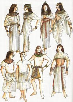 SCHENTI: Pampanilla de fino tejido plisado presente en el atuendo del faraón Akenatón. Se sujetaba con un cinturón; en los altos dignatarios estaba en ocasiones bordado.