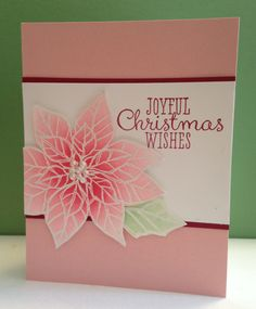 Need to make some Christmas cards? A lot of cards? Come to my Christmas Blitz card class on Saturday, November 9. The card below is one of the cards we'll be making. I designed it for the car…
