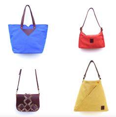 Canvas & leather purses