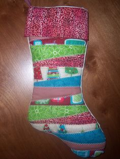 Homemade Quilted Christmas Stocking by SewDangCreative on Etsy, $29.95