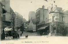 Montmartre, Paris >>> Some time late in the 19th century by the looks.