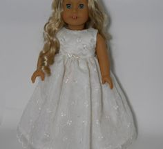 American Girl doll clothes, 18 inch doll clothes,  Ivory Wedding  Dress