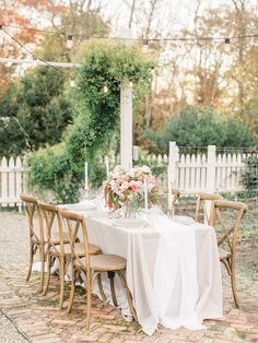 Outdoor rustic wedding decor: Venue: Cedar Lakes Estate - http://cedarlakesestate.com Floral Design: wildflowers by design - http://wildflowersbydesign.com Event Planning: All Who Wander Event Design - http://www.stylemepretty.com/portfolio/all-who-wander-event-design   Read More on SMP: http://www.stylemepretty.com/2017/02/27/upstate-new-york-springtime-styled-shoot/