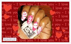 Valentine's Day nails, many more to come.