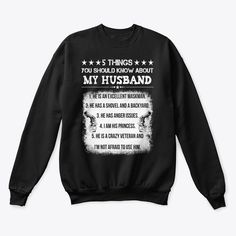 Veteran Wife Gift Veterans Day Products from Veterans   Teespring Great Gifts For Men, Gifts For Wife, Veterans Day Gifts, Graphic Sweatshirt, T Shirt, Sweatshirts, Women, Products, Fashion