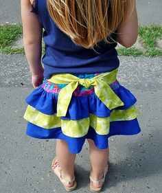 SweetKid3 - Charlotte 3-Layer Ruffle Skirt - E-PATTERN-sweetkid3, andrea jonas, charlotte 3-layer dress, three layer, layered, girl, baby, infant, toddler, school, swing, twirly, ruffle, school, play, party, special occasion, everyday, sewing, summer, spring, fall, all occasion, instant, e-pattern, download, pdf, e-book, tutorial, digipattern