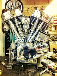 Cyclefools is a site for people into Choppers, Bobbers, Harleys, and Tattoos. Harley Davidson Engines, Harley Davidson Panhead, Harley Bobber, Custom Choppers, Custom Harleys, Custom Bikes, Hd Motorcycles, Vintage Motorcycles, Motorcycle Engine