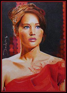 Katniss Everdeen: Katniss: Catching fire: The Hunger Games: Art: The Girl On Fire by DavidDeb.deviantart.com on @deviantART
