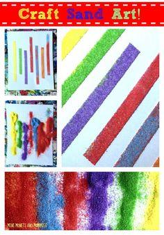 Kids' Craft Sand and Tape Art Activity