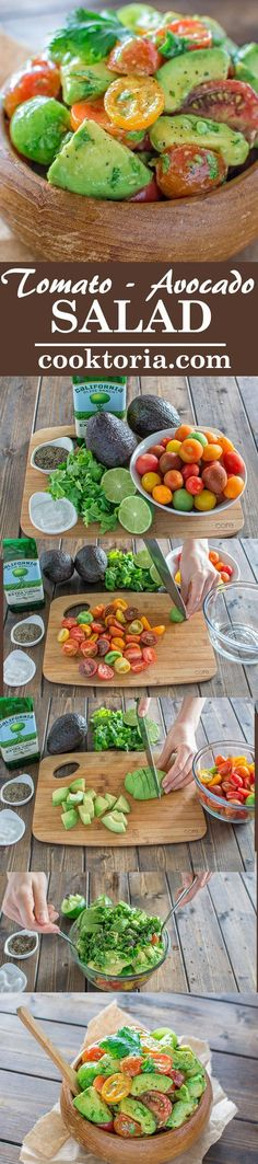 Healthy and so flavorful, this Tomato Avocado Salad makes a great addition to your dinner or lunch. This is one of the most loved recipes in my family! ❤️ COOKTORIA.COM