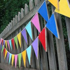 Create this project with Patio Paint Outdoor™ — String together simple wood bunting painted with Patio Paint to create fun, outdoor decor.
