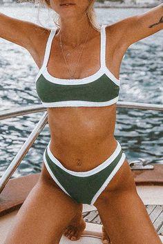 Bikinis – Page 2 – Bomshe Green Bikini Set, Orange Bikini, Black Bikini, Bikini Bottoms, Bikini Tops, Green Two Piece, Leopard Print Bikini, Skinny Waist, Cute Bikinis