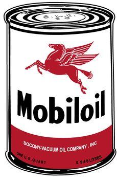 Mobil Oil Can Sign. www.garageart.com