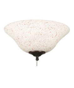 Fanimation G459 Rust-Cream Speckled Fan Accessory Glass #CapitolPinandWin I love the pink and white design!