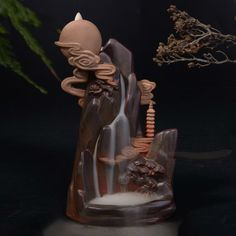 25-50PCS Dainty Reflux Tower Incense Cones Tea Smoke Backflow Aromatherapy Cones