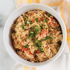 This spicy seafood jambalaya is packed with crawfish tails and jumbo lump crabmeat.