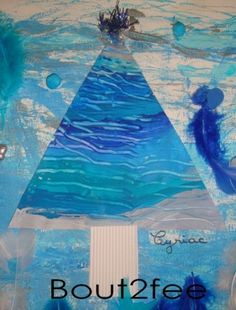 Après les lignes verticales avec mes petits, nous avons attaqué les lignes horizontales...Et comme la déco de noël de mon école était prévue en bleu et blanc, j'ai donc travaillé avec ces couleurs. traces de voiture : Les enfants ont librement fait des...