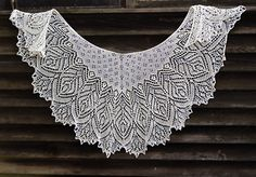 Hortense Beaded Lace Shawl, knitting pattern by Anna Victoria for sale on Ravelry