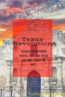 Let's talk about exciting and engaging ways to teach our students about the Texas Revolution! This important era in Texas History is guaranteed to excite! History Interactive Notebook, Social Studies Notebook, 4th Grade Social Studies, Interactive Notebooks, History Activities, Teaching History, Texas History 7th, Texas Revolution, History Classroom