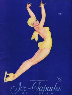Vintage PETTY GIRL Cover and Program for 1946 Ice Capades