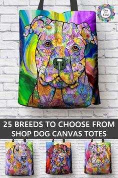 Rock your favorite dog breed on this durable canvas tote bag. Make a statement and show your fur baby you love them with this colorful quality tote bag. 25 breeds available. Dog Quilts, Animal Quilts, Dog Art, Shibori, Art Lessons, Flower Power, Fur Babies, Dog Lovers, Art Projects