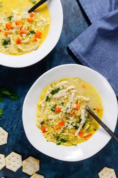 Chicken Cauliflower Rice Soup is Whole30 compliant and totally comforting. It'll become your spring favorite!