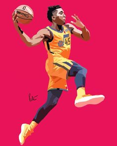 Great artistic spin on the ROTY and the statement uniform for the Jazz Basketball Tattoos, Jazz Basketball, Custom Basketball, Basketball Pictures, Basketball Players, Basketball Stuff, Basketball Floor, Sports Images, Sports Art