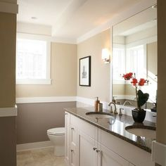 Libertyville Not So Big Showhouse - traditional - bathroom - chicago - Sarah Susanka, FAIA Remodeling Costs, Home Remodeling, Two Tone Walls, Faia, Traditional Bathroom, Traditional Design, Bathroom Inspiration, Home Projects, Sweet Home