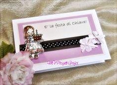 BIGLIETTO SCRAP COMPLEANNO BIMBA, by Progetti Grafici per Matrimoni ed Eventi, 2,99 € su misshobby.com