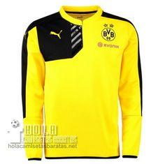 daed7b3d652aa Camisetas De Entrenamiento Manga Larga Negro Borussia Dortmund 2015-16 €22.9