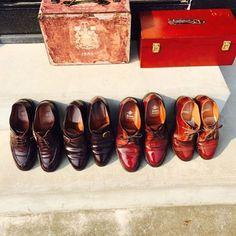 2017/03/19 15:24:55 0328hiroki たまには靴ネタを プロに 出張磨きしてもらいました✨✨ #Alden#alden#cordban #burgundy#highshine#shoes #polish#makers #オールデン#メイカーズ#靴磨き#コードバン #ハイシャイン#バーガンディー #靴磨き倶楽部#靴#足元倶楽部 #鏡面磨き