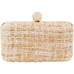 Inge Christopher Adeline Ivory Tweed Clutch  135 euro