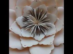 Montagem flor de papel- modelo 14 o Hibisco! - YouTube