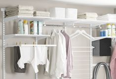 """Acquire excellent tips on """"laundry room storage diy shelves"""". They are available for you on our website. Laundry Room Shelves, Laundry Storage, Laundry Room Organization, Closet Storage, Laundry Rooms, Laundry Bags, Basement Laundry, Storage Room, Garage Storage"""