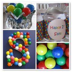Ball theme birthday party @Stephanie Close Louise Franklin