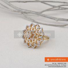 #Beautiful #classic #stylish #ethnic #gold #diamond #ring for the #amazing look.