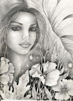 Poppies fairy by ~vikachaeeta on deviantART