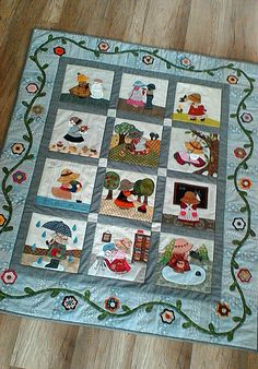 Colchas Quilt, Lap Quilts, House Quilts, Applique Quilts, Quilt Blocks, Quilting Room, Machine Quilting, Quilting Projects, Quilting Designs