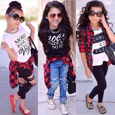 We love plaid shirts and handbags.Here's 3 different ways you can wear them!❤️Which is your - mens white and black shirt, short sleeve button shirt, mens pink plaid shirt *ad Little Girl Outfits, Cute Girl Outfits, Cute Outfits For Kids, Little Girl Fashion, Cute Girls, Cute Kids Fashion, Tween Fashion, Toddler Fashion, Toddler Girl Style
