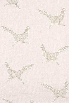 Pheasants - a new design in our woven linen. Very country!