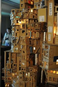 Unique Miniature City Housing Estate N - An Eccentric World Built Of Card Board
