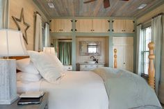 Great built ins!  229 Greer Road - Farmhouse - Bedroom - Our Town Plans