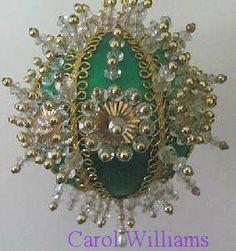 Easy Christmas Beaded Ornaments Kits | Christmas Ornament Satin Ball Beading Kit Emerald Isle New with ...