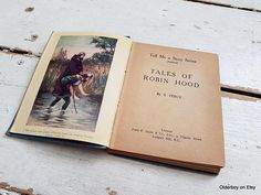 1930s Tales of ROBIN HOOD by S.Percy vtg book vintage Tell me
