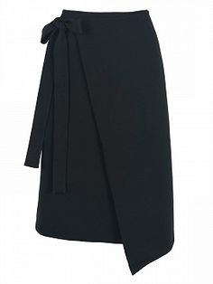 Shop Black High Waist Asymmetric Wrap Skirt from choies.com .Free shipping Worldwide.$28.9